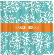 Coral Personalized Shower Curtain - DESIGN YOUR OWN!