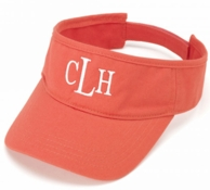 Coral Twill Monogrammed Visor
