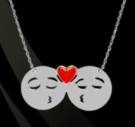 Couple Emo Emoji Necklace