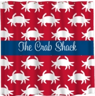 Crabby Personalized Shower Curtain - DESIGN YOUR OWN!
