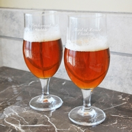 Custom Personalized Stemmed Pilsner Glasses (Set of 2)