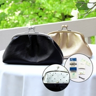 Custom Vintage Clutch with Survival Kit and Personalized Interior Plate