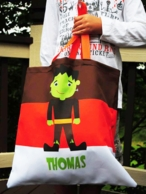 Cute Frankie Personalized Halloween Candy Tote
