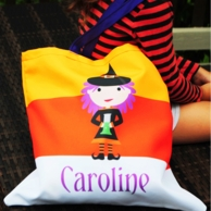 Cutie Witch Personalized Halloween Candy Tote