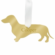 Dachshund Personalized Silhouette Ornament