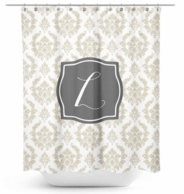 Damask Monogram Shower Curtain