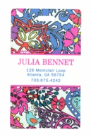 Deco Floral Personalized Luggage Tags - SET OF 2
