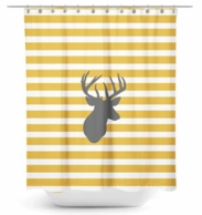 Deer Head Stripes Shower Curtain