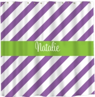 Diagonal Stripes Monogram Shower Curtain - DESIGN YOUR OWN!