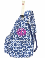 Don't Fret Monogrammed Sling Tennis Backpack
