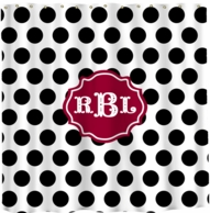 Dots Monogrammed Shower Curtain - DESIGN YOUR OWN!
