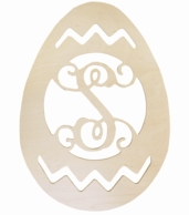 Easter Egg Wood Wall Monogram