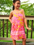 Eleanor Coral & Gold Paisley Personalized Girls Spa Wrap