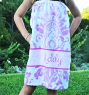 Eleanor Purple Girls Personalized Spa Wrap