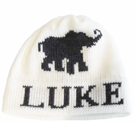 Elephant Personalized Knit Beanie Hat