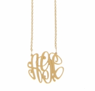 Elizabeth Medium Monogram Gold Necklace
