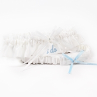 Embroidered �I Do� Wedding Garter - In White OR Ivory!