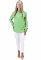 Emerald Solid Tunic Blouse