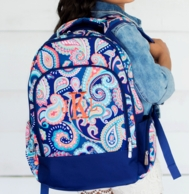 Emerson Paisley Monogrammed Backpack