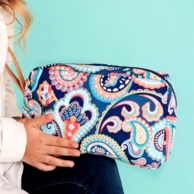 Emerson Paisley Monogrammed Cosmetic Bag
