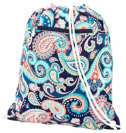 Emerson Paisley Monogrammed Drawstring Gym Bag