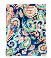 Emerson Paisley Monogrammed Fleece Blanket