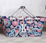 Emerson Paisley Monogrammed Market Tote