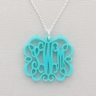 Emma Chandelier Monogram Acrylic Necklace