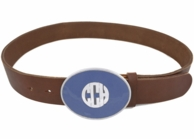 Enamel Monogrammed Belt Buckle - CHOOSE YOUR COLORS!
