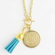 Engraved Monogram Necklaces