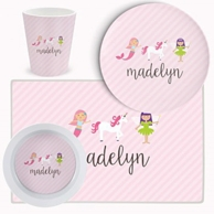 Fairy Tale Personalized Kids Tableware Set