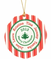 Family Names Personalized Holiday Christmas Ornament