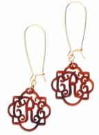 Fancy Acrylic Monogram Earrings - CHOOSE YOUR COLORS!
