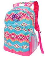 Fiesta Monogrammed School Backpack