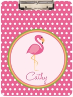 Flamingo Personalized Clipboard