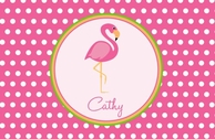 Flamingo Personalized Kids Placemat