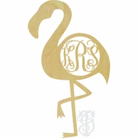 Flamingo Wood Wall Monogram