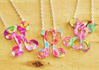 Floating Letter Acrylic Necklace - Mary Beth Goodwin Prints