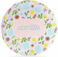 Floral Personalized Kids Plate / Bowl