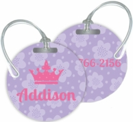 Flowers Personalized Bag Tags - SET OF 2 - CHOOSE YOUR DESIGN!