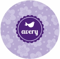 Flowers Personalized Kids Plate - CHOOSE YOUR DESIGN!