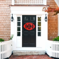 Football Unfinished Wood Door Monogram