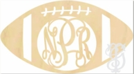 Football Wood Wall Monogram Decor