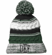 Forest Green Monogrammed Chunky Knit Beanie Hat