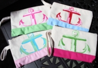 Francesca Joy Hand Painted Anchor Wristlet Bag