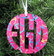 Francesca Joy Monogram Acrylic Ornament - CHOOSE YOUR PRINT!