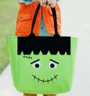 Frankenstein Personalized Halloween Tote