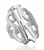 Freeform Monogram Cut Ring