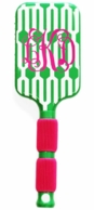Fresh Picked Geo Monogrammed Paddle Hair Brush