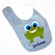 Froggy Diamonds Personalized Bib